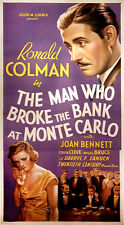 MAN WHO BROKE THE BANK AT MONTE CARLO, THE (1935) Three sht style A on linen NF