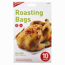 10 ROASTING BAGS FOR COOKING MEAT VEGETABLES IN OVEN OR MICROWAVE 25 x 38cm DW