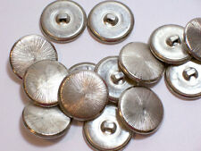 """Silvertone Starburst Metal Buttons 7/8"""" x 40 pcs, New Old Stock, Silver Buttons"""