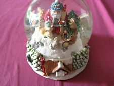 Traditions Musical Water Globe Plays Santa Claus Is Coming To Town 150MM Dome