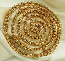 Cool Vintage 60's Modernist Spiral Brooch 410M6