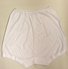 Pack of 3 Ladies 100% Cotton Eyelet Tunnel Elastic Low Leg Pantee Knickers XXOS