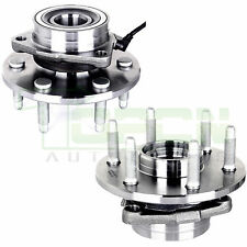 2 Front Wheel Hubs & Bearings Pair Set w/ABS for Chevy GMC Truck 4X4 4WD AWD