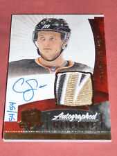 10-11 The Cup Cam Fowler * 1/1 * AUTO 4CLR PATCH RC 54/54 Jersey# Gold Rainbow