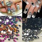 Portable Carry 1.5mm 1800pcs Nail Art Rhinestone Beauty Deco Tip Mix + Case EB