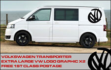 "Volkswagen VW Extra Large 17"" logo Decal Graphic X2 Transporter T5 T4 Campervan"