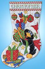 Cross Stitch Kit ~ Design Works Penguin Joy Christmas Stocking #DW5984