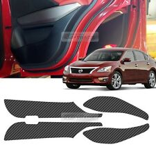 Carbon Door Decal Sticker Cover Kick Protector for NISSAN 2013-2015 2016 Altima
