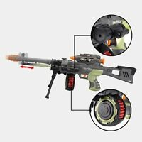 Combat 3 Army Commando Machine Gun Pistol With Lights And Sounds Kids Toy 56-71*