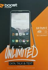 LG Stylo 2 16GB 4G LTE Smartphone for Boost Mobile. 1st Month $45 Plan INCLUDED.