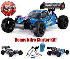 Remote Control Car Racing 1/10 Radio RC Buggy Gas Toy Kid Nitro Fuel Starter Kit