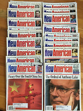 The New American, assorted lot of 12 Issues from the 1980s to the early 2000s!