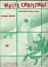 1942 WHITE CHRISTMAS by Irving Berlin Vintage Sheet Music