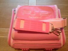 Pink Carry Bag / Case for the Sony Playstation 2 Slim  PS2 Games Console