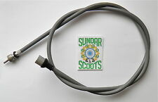 GREY SPEEDO CABLE.ITALIAN THREADED.OK FOR VESPA VBB,VBA, SUPER SPRINT SPORTIQUE