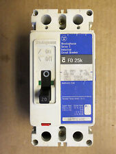 Westinghouse FD 25k 2 pole 20 amp 600v FD2020 Circuit Breaker Blue Label FLAWED