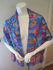 NWT Gorgeous Nordstrom's Silk Oblong Floral Scarf- Multi Color