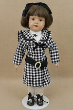 Spring jointed antique 1911 Schoenhut Wood Wooden doll MISS DOLLY USA w Label