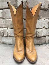 JUSTIN Cowgirl Cowboy Western Rodeo Brown Boots Women's Ladies Style 8674 Sz 7 B