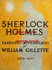 SHERLOCK HOLMES-SOUVENIR PROGRAM-WILLIAM GILLETTE-1929-30-PEG ENTWISTLE-SUICIDE