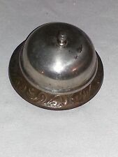 Antique Hotel Desk Counter Service Call Bell with Art Nouveau Style Design