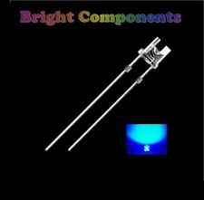 10 X Led Azul 3mm Flat Top-Ultra Brillante (9000mcd) - UK - 1st Class Post