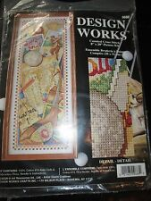 DESIGN WORKS CRAFTS Vintage THE GAME OF GOLF Counted Cross Stitch KIT - 1990's