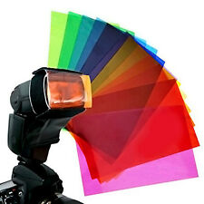 12 Strobist Flash Color card diffuser Lighting Gel Pop Up Filter for Speedlite