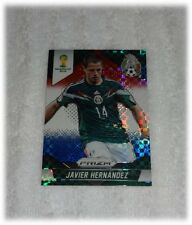 2014 Panini Prizm World Cup Red Blue Plaid Javier Hernandez - Mexico #148