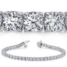 20.51 ct Round Diamond TENNIS BRACELET 18k white Gold GIA G SI1 27 x 0.74-.77 ct