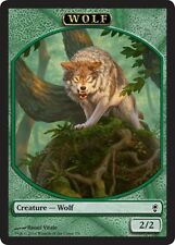 4X 2/2 Green Wolf Token Card (7/9) NM Conspiracy MTG Magic Cards Predatory Howl