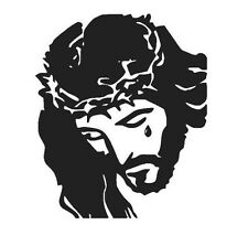 "JESUS CHRIST VINYL DECAL STICKER WINDOW/ LAPTOP/ CAR 3.6"" x 3"""