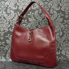 Rise-on Vintage HERMES Trim 31 Bordeaux Wine Red Leather Shoulder Bag #40