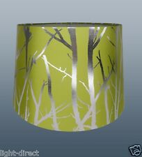 "GREEN LAMPSHADE TREE BRANCH EFFECT 11"" EMPIRE DRUM  CEILING OR TABLE LAMP SHADE"