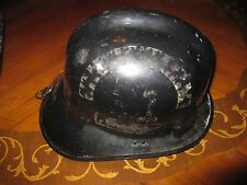 Vintage CAIRNS & BROTHER Black Fire Helmet Hat