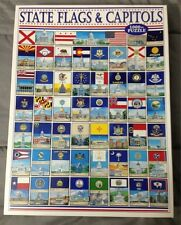 White Mountain Puzzles State Flags and Capitals 1000 Piece Puzzle New