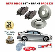 FOR MAZDA 6 2.0DT 2.3i 4WD SPORT 7/2002-8/2006 REAR BRAKE DISCS + DISC PADS SET