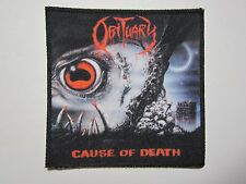 OBITUARY Cause Of Death NEW patch death metal