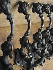 Set of 8 Georgian Manor Style Cast Iron Coat Hooks hall house estate building