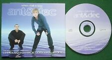 Ant & Dec When I Fall in Love Absolutely Excellent Condition CD Single