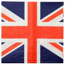 20pk 3ply Union Jack napkins, serviettes, Great British, patriotic,street party