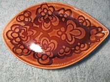 VINTAGE RETRO POOLE POTTERY AEGEAN SPEAR LEAF DISH SHAPE 91 1970s (1)
