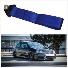 High Strength Racing Tow Towing Blue Strap Hook for Car Autos Front Rear Bumper