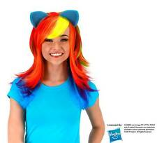 MY LITTLE PONY Friendship Magic RAINBOW DASH WIG w/ EARS Costume PROP COSPLAY