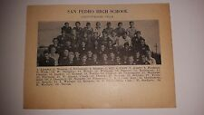 San Pedro High School LW & Strathmore Union California 1928 Football Team Pictur