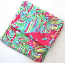 LILLY PULITZER Pomegranate PINK JUNGLE TUMBLE Tropical Scarf Shawl Wrap NWT New