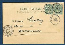 FRANCE - Carte commerciale de Layrac pour Marmande en 1905 , ambulant  réf S 152