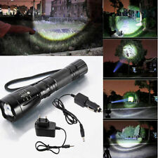 3000LM for CREE XML T6 LED Rechargeable Flashlight Torch W+AC/DC Charger US/EU