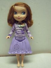 """Disney Sofia the First Tea Party Picnic Doll with blinking amulet 10"""" tall"""