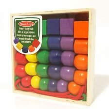 Lacing Beads Primary Colours Wood for Threading Melissa and Doug 3+ NEW